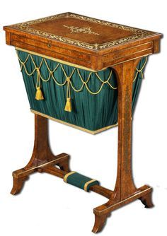 Provided Low Sewing Table English Kit Living Room Antique Furniture Wood Inlaid 800 Xix Reasonable Price Tables Antiques