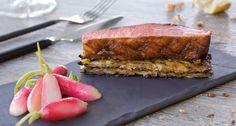 Magret de Canard Laqué, Radis glacés au Vinaigre de Sauternes et Croustillant de Pomme de Terre
