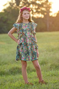 Odette is a top or dress pattern that is full of style that is co-designed by the talented artist, Bari...