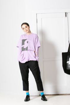 Classic short sleeve tee from AS Colour has been reworked! Short Sleeve Tee, Short Sleeves, Purple Haze, Workout Shorts, Clothes For Women, Tees, Cotton, Outerwear Women, Short Sleeve Hoodie