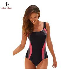 e61966e526117 US $11.05 45% OFF|Ariel Sarah 2018 Hot Swimsuit Swimwear Women Sport One  Piece Swimsuit Sexy Monokini Maillot De Bain Femme Bodysuit Swimwear  Q051-in Body ...