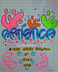 Jyj, Ideas Para, Neon Signs, Lettering, Painting Art, Amor, Vestidos, Science Notebooks, Cute Notebooks