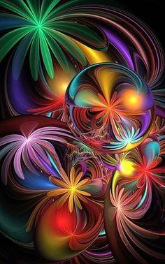Flowers Fractal Art