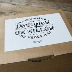 """SORTEO Mr. Wonderful: Kit de Aniversario + Lámina """"Te volvería a decir que sí un…"""