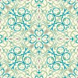 Middle eastern inspired seamless tile design Royalty Free Stock Image