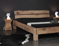 Bauanleitung Balken-Bett Timber Frame Trestle Bed – Rustic Bed, Big…The practical manual for tie knots – Haus…Manual Activity for – Everything… Construction manual beam-bed New Swedish Design, Diy Bett, Rustic Bedding, Wood Beds, Luxurious Bedrooms, Platform Bed, Bed Frame, Luxury Bedding, Beams