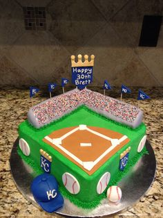 KC Royals Stadium Cake