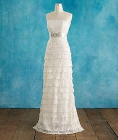 """I'll never pin wedding dress stuff,"" I said.  ""I won't be like all those other girls on Pinterest,"" I said.  And then I went and pinned this gorgeous lacy creation."