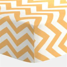 Light Orange Zig Zag Crib Sheet | Carousel Designs