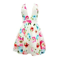 Sonya Floral V-Cut Dress