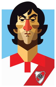 Daniel Nyari has designed a collection of illustrations of the best 'number in football, called the Playmakers Illustration Series.