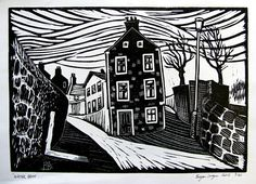 Bryan Angus lino prints - Google Search