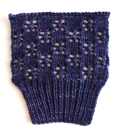 Snowflake Lace  Stitch.  Nice example of stitch, New Stitch A Day actually has directions.