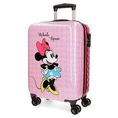 Minnie Mouse, Disney Luggage, Mickey Disney, Cute Suitcases, Trolley Bags, Car Girls, Girl Car, Cute Stationery, Cute Panda
