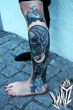 Quando um cranio e um polvo de mesclagem #tattoo #tattoos #tattooed #inked #tats #ink #tatoo #tat #tattooart #tattooartwork #tattoodesign #tattooartist