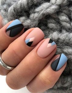 40 Inspiring Short Square Matte Acrylic Nails Design Ideas That You Must Try Matte Acrylic Nails, Glitter Gel Nails, Acrylic Nail Designs, Sns Nail Designs, Square Nail Designs, Rose Nails, Oval Nails, Shellac Nails, Diy Nails