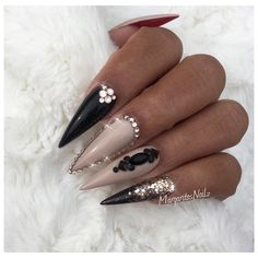 Top Most Creative Black Acrylic Nails Designs Acrylic Nails Stiletto, Acrylic Nail Art, Coffin Nails, Nail Art Designs, Acrylic Nail Designs, Nails Design, Rose Gold Nails, Black Nails, Matte Black