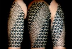 Belgium artist Vincent Hocquet has an interesting tattoo technique that looks like pointillism and watercolor painting. His designs include three-dimensional and geometrical shapes, organic patterns, and optical illusions.