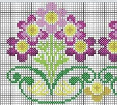 This Pin was discovered by İlk Cross Stitch Tree, Mini Cross Stitch, Cross Stitch Borders, Cross Stitch Alphabet, Cross Stitch Flowers, Cross Stitch Designs, Cross Stitching, Cross Stitch Embroidery, Embroidery Patterns