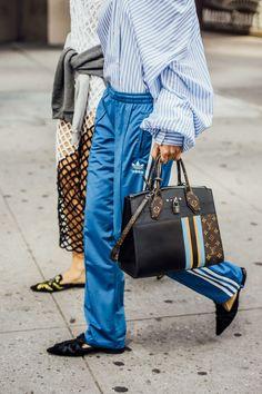 September 11, 2016 Tags Black, Brown, White, Blue, Stripes, Adidas, Louis Vuitton, Women, Prints, Monogram, Sportswear, Flats, Dresses, Bags, Blouses, New York, Shirts, Sweatpants, Track Pants, Fishnet, SS17 Women's