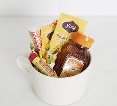 DIY Get Well Kit. Great idea for a friend or co-worker feeling under the weather.