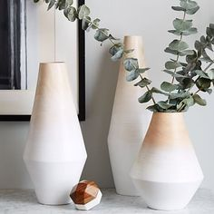 Modern Wood Ombre Vases from West Elm | Design with confidence at www.bluGloss.com
