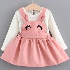 New Baby Girls Clothes Lace Bow tie Mini A-Line Baby Princess Dress Cute Cotton Kids Clothing