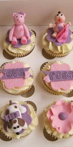 It's a Girl Baby Shower Cup Cakes