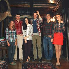 Sarah missed the memo. Plaid Sundays in the Factory.