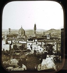 Stereo view of Florence, Italy.   The Daguerreotype.  Between about 1855 and 1859