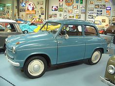 Not only is this microcar ADORABLE, but it is called a 1958 Lloyd Alexander.  !!!
