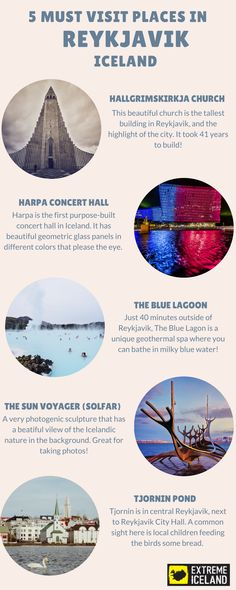 Infographic: 5 Must Visit Places in Reykjavik, Iceland!