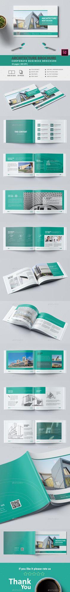 #Architecture A5 #Brochure - Corporate Brochures Teacher Brochure, Corporate Brochure, Business Brochure, Travel Brochure Template, Brochure Design, Brochure Ideas, Event Poster Design, Catalog Design, Flyer Design Templates