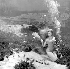 Cheryl Rhoades during performance of an underwater show at Weeki Wachee Springs near Brooksville