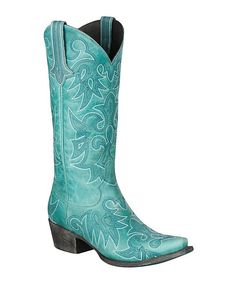 Turquoise Wild Ginger Leather Cowboy Boot | zulily