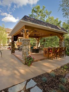 Roof Ideas for Pergola. 19 Elegant Roof Ideas for Pergola. Covered Deck and Pergola Roof Design Ideas 17 Googodecor Backyard Pavilion, Outdoor Pavilion, Outdoor Gazebos, Outdoor Rooms, Outdoor Living, Outdoor Kitchens, Wooden Pavilion, Glass Pavilion, Pavilion Wedding
