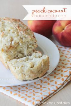 Peach Coconut Banana Bread  ....Delicious tropical flavor....... and the peaches and coconut make the banana bread even more moist and delicious!