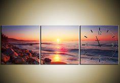 Canvas Wandklok Zee #canvas_klok