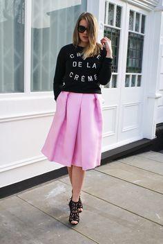 I Believe in Pink  #pink #tibi #zoekarssen #streetstyle #audreyhepburn #zara
