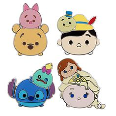 Tsum tsum booster pin sets. Click to order yours today.