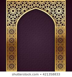 Ramadan Backgroud with Golden Arch, with golden arabic pattern, EPS 10 contains transparency Islamic Art Pattern, Arabic Pattern, Pattern Art, Islamic Architecture, Facade Architecture, Wedding Card Design Indian, Middle Eastern Decor, Cnc Cutting Design, Plasma Cutter Art