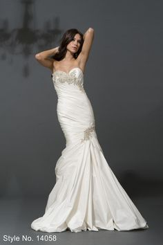 Wedding Dress/Gown - Pnina Tornai 14058 SILK A-LINE SWEETHEART