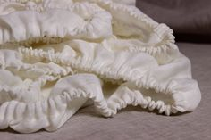 Fitted Sheet Pure White Linen Twin XL Full by KingdomofComfort