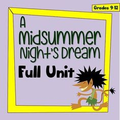 This is a complete unit for teaching William Shakespeare's A Midsummer Night's Dream. I put this together as a play study for my Grade 9 English classes who had never studied a Shakespeare play before. | by One Teacher's Adventures