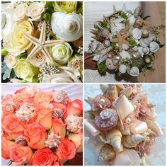 Cute bouquets that would coordinate with any beach wedding!