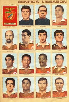 Benfica team stickers for World Football, Football Team, Football Stickers, Uefa Champions, Sports Clubs, Old Glory, Film Music Books, Vintage Cards, Best Games