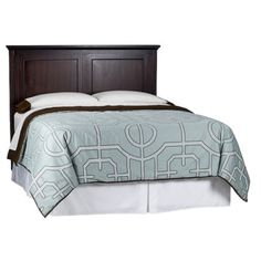 Dark Brown and weighty - headboard ideas for our bedroom bed : Threshold™ Avington Headboard - Dark Tobacco (Queen) Target Bedroom, Bedroom Bed, Bedroom Furniture, Master Bedroom, Bedrooms, Bedroom Ideas, Pottery Barn Look, Interior Design Classes, New Home Wishes