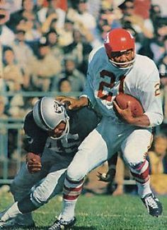 Mike Garrett Kansas City Chiefs 1966-70 and San Diego Chargers 1970-73.