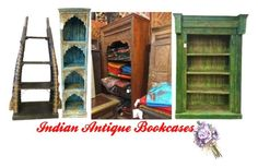 """Indian Antique Bookcases"" by mogul-interior on Polyvore"