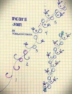 Pearl Jam tangle by texasdoxiemama Tangle Doodle, Tangle Art, Zen Doodle, Doodle Art, Zentangle Drawings, Doodles Zentangles, Doodle Drawings, Doodle Patterns, Zentangle Patterns